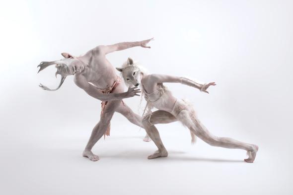 Gwyn and Bleiddwen Wolf in Skins